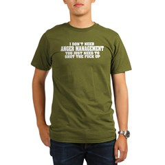 Anger Management Organic Men's T-Shirt (dark)