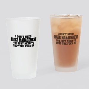 Anger Management Drinking Glass