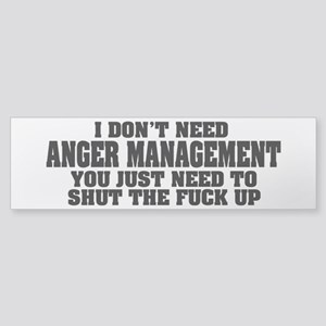 Anger Management Sticker (Bumper)
