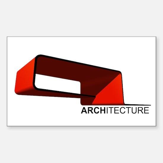 Architecture Sticker (Rectangle)