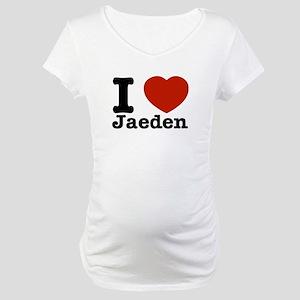 I love Jaeden Maternity T-Shirt