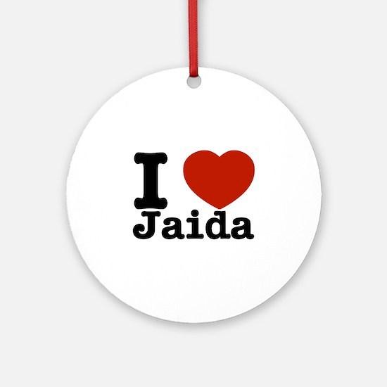 I love Jaida Ornament (Round)