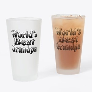 WORLDS BEST Grandpa Drinking Glass