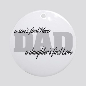 Son's First Hero - Daughter's Fir Ornament (Round)