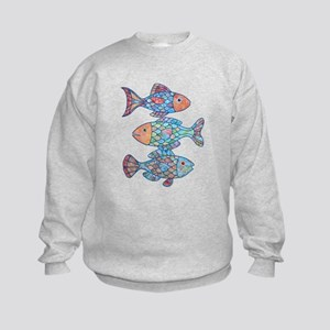 Fishes 3 Kids Sweatshirt