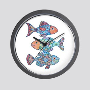 Fishes 3 Wall Clock
