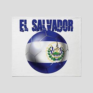 Futbol de El Salvador Throw Blanket