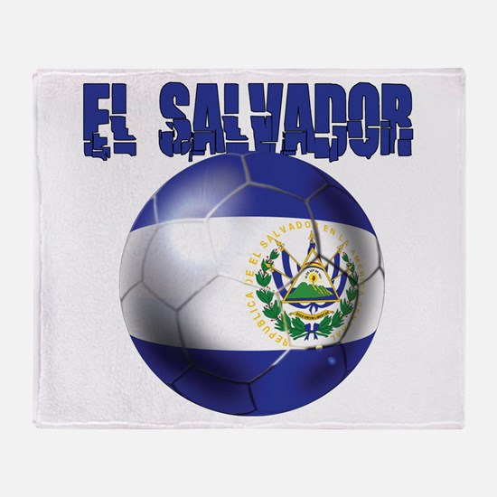 Futbol de El Salvador Throw Blanket
