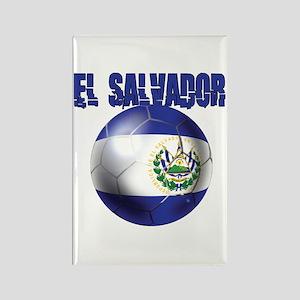 Futbol de El Salvador Rectangle Magnet
