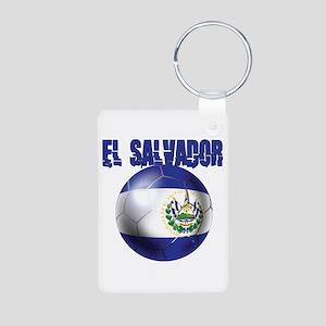 Futbol de El Salvador Aluminum Photo Keychain