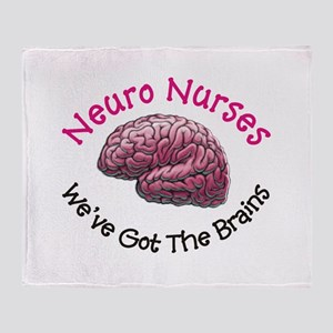 Neuro Nurse Throw Blanket