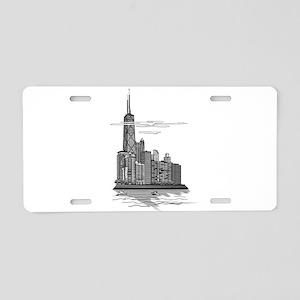 Chicago Skyline Art Aluminum License Plate