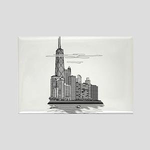 Chicago Skyline Art Rectangle Magnet