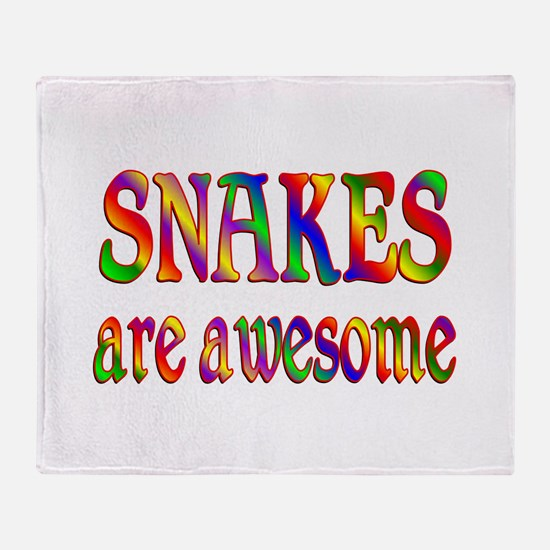 Awesome SNAKES Throw Blanket