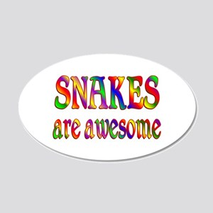 Awesome SNAKES 22x14 Oval Wall Peel