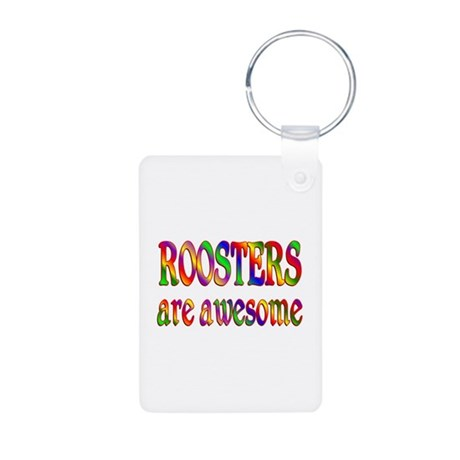 Awesome ROOSTERS Aluminum Photo Keychain