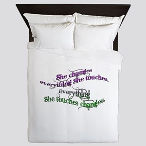 She Changes Everything Queen Duvet