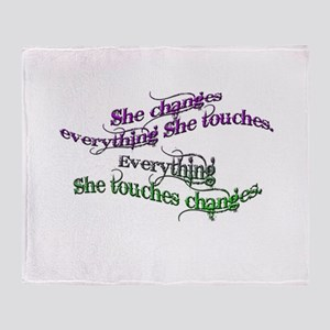 She Changes Everything Throw Blanket