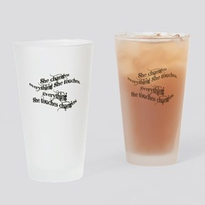 She Changes Everything Drinking Glass