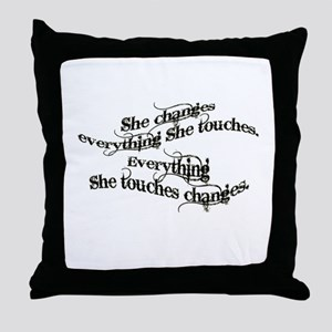 She Changes Everything Throw Pillow