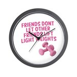 Friends dont let other friends V2 Wall Clock