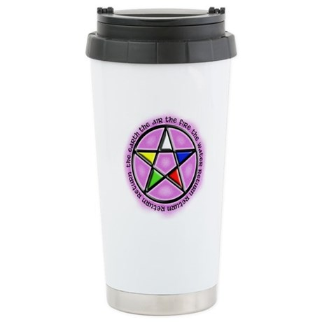 Earth, Air, Fire, Water Stainless Steel Travel Mug