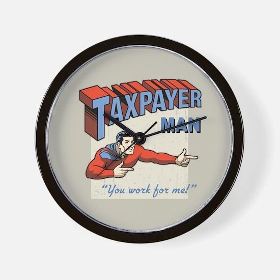 Taxpayer Man! Wall Clock