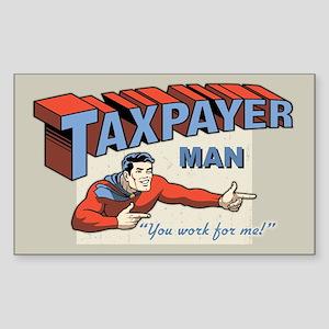 Taxpayer Man! Sticker (Rectangle)