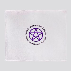Perfect Love and Trust Throw Blanket