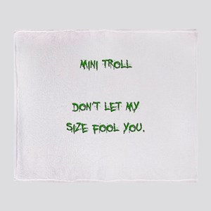 Mini Troll Throw Blanket