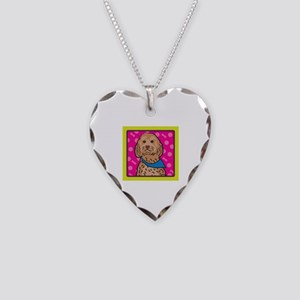 Cockapoo Cartoon Necklace Heart Charm