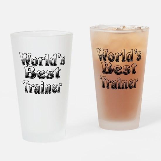 WORLDS BEST Trainer Drinking Glass