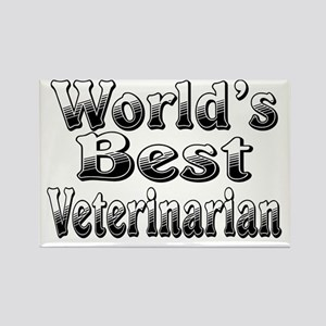 WORLDS BEST Veterinarian Rectangle Magnet
