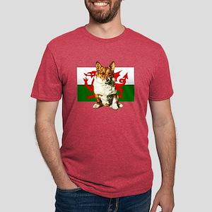 Welsh Corgi Mens Tri-blend T-Shirt