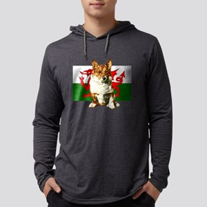Welsh Corgi Mens Hooded Shirt