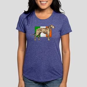 Irish Wolfhound Womens Tri-blend T-Shirt