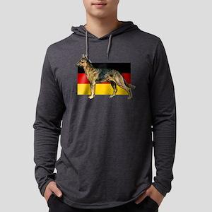 Alsatian German Shepherd Mens Hooded Shirt