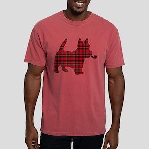Scottish Terrier Tartan Mens Comfort Colors Shirt
