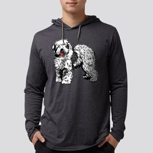 Old English Sheepdog Mens Hooded Shirt