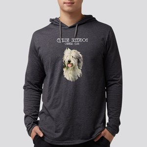 English Sheepdog Mens Hooded Shirt