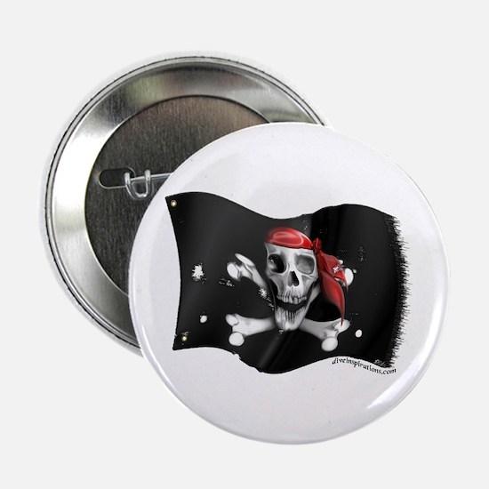 Caribbean Pirate Flag Button