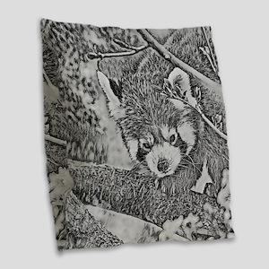 RedPanda_20170601 Burlap Throw Pillow