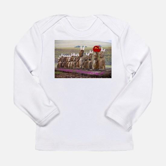 EasterIslandEggsMeme Long Sleeve T-Shirt