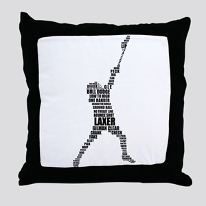 Lacrosse Lingo Throw Pillow