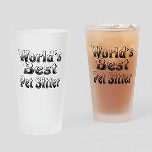 WORLDS BEST Pet Sitter Drinking Glass