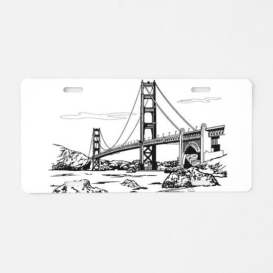 Golden Gate Bridge Aluminum License Plate
