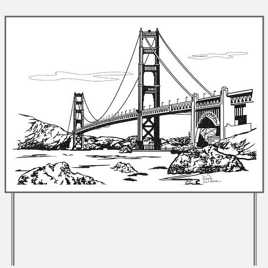 Golden Gate Bridge Yard Sign