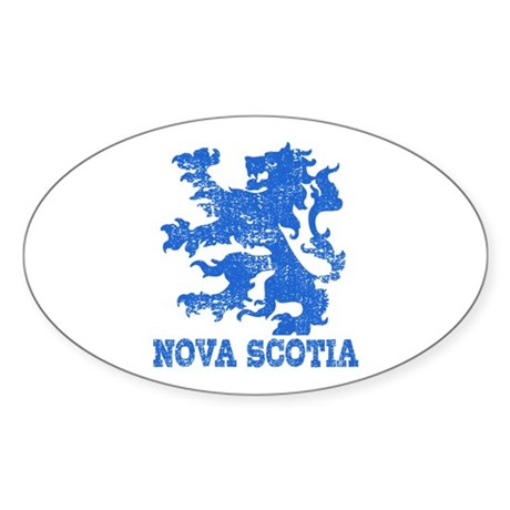 177761051 Oval CafePress Nova Scotia Oval Sticker Sticker