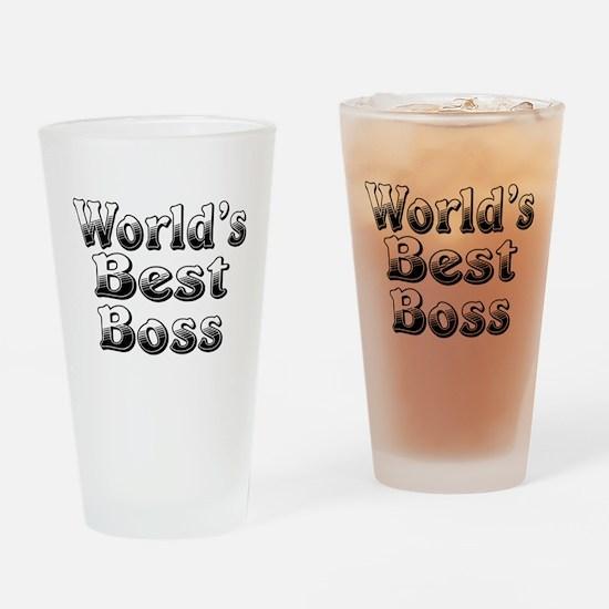 WORLDS BEST Boss Drinking Glass