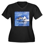 The Arrival Women's Plus Size V-Neck Dark T-Shirt
